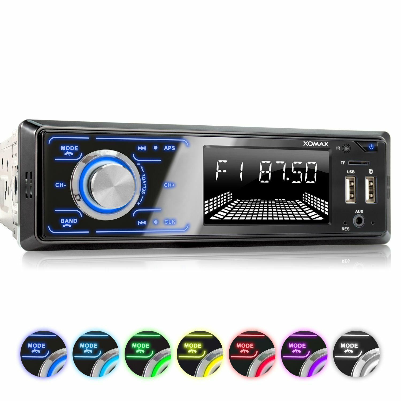 AUTORADIO RDS AM/FM BLUETOOTH FREISPRECHEINRICHTUNG 2 X USB SD AUX-IN MP3 1DIN