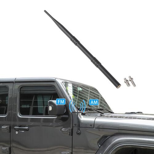 "13/"" Black Stainless AM FM Antenna Mast FITS 2007-2019 Jeep Wrangler"