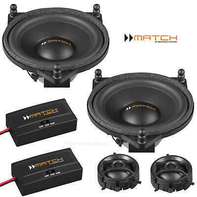 MATCH UP C42MB-FRT 120 Watt Premium Front-Lautsprecher Set für Mercedes C E GLS