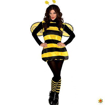 Damen Kostüm Biene Meli Gr. M/L Kleid Tier Fasching Karneval