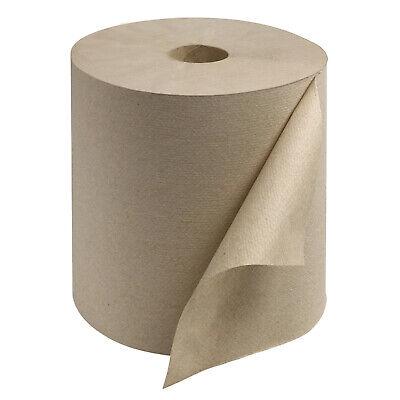 Tork Rk8002 Universal 800 Foot 1 Ply Hardwound Paper Towel Roll Brown 6 Pack