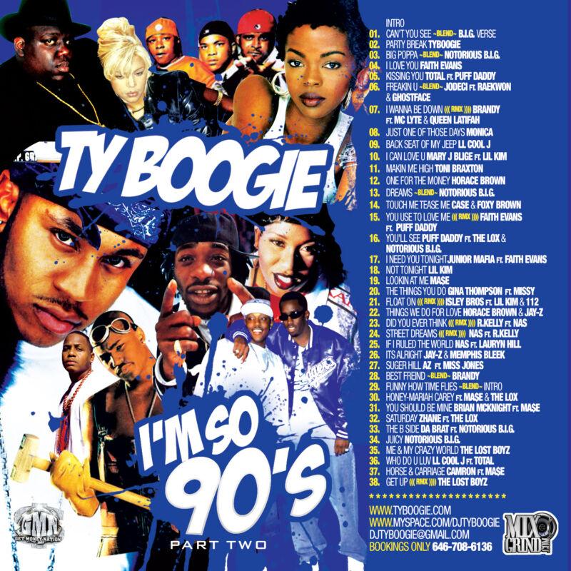 Dj Ty Boogie – I'm So 90s Pt. 2 (mix Cd) 90