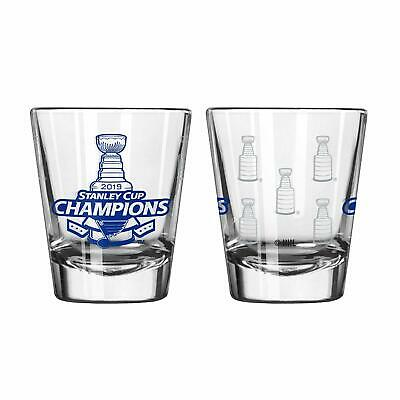 St Louis Blues 2019 NHL Stanley Cup Champions 2 oz. Etched Shot Glass Louis Blues Glass