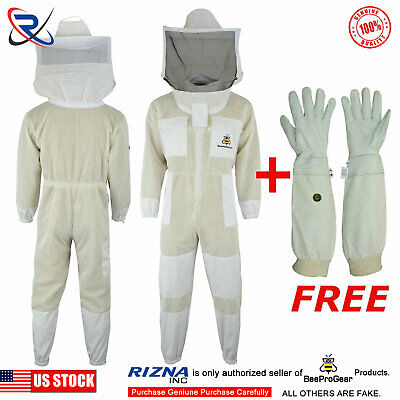 Beepro Ultra Ventilated 3 Layer Bee Beekeeping Suit Round Veil2xl Uv13