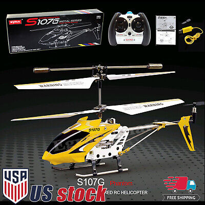 Cheerwing S107G Phantom 3.5CH Mini Metal Remote Control RC Helicopter GYROYellow ()