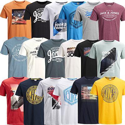 Print T-shirt (Jack & Jones Herren T-Shirt Kurzarrmshirt Print Rundhals Tee Sport Freizeit Club)
