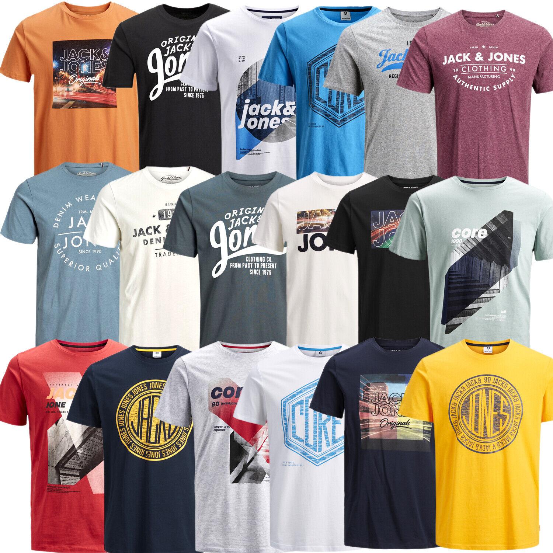 Jack & Jones Herren T-Shirt Kurzarrmshirt Print Rundhals Tee Sport Freizeit Club