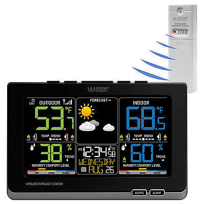 C87214 La Crosse Technology Wireless Color Weather Station with TX141TH-BCH NIB