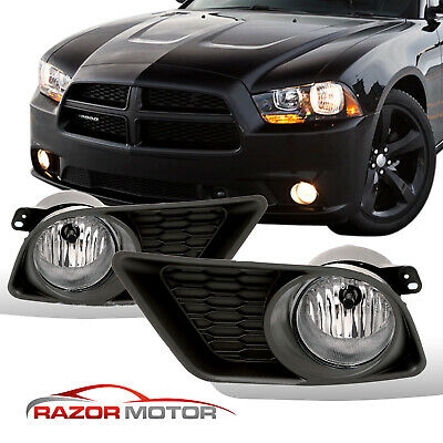 For 2011 2012 2013 2014 Dodge Charger Bumper Fog Lights W/ Bulbs & Switch Kit