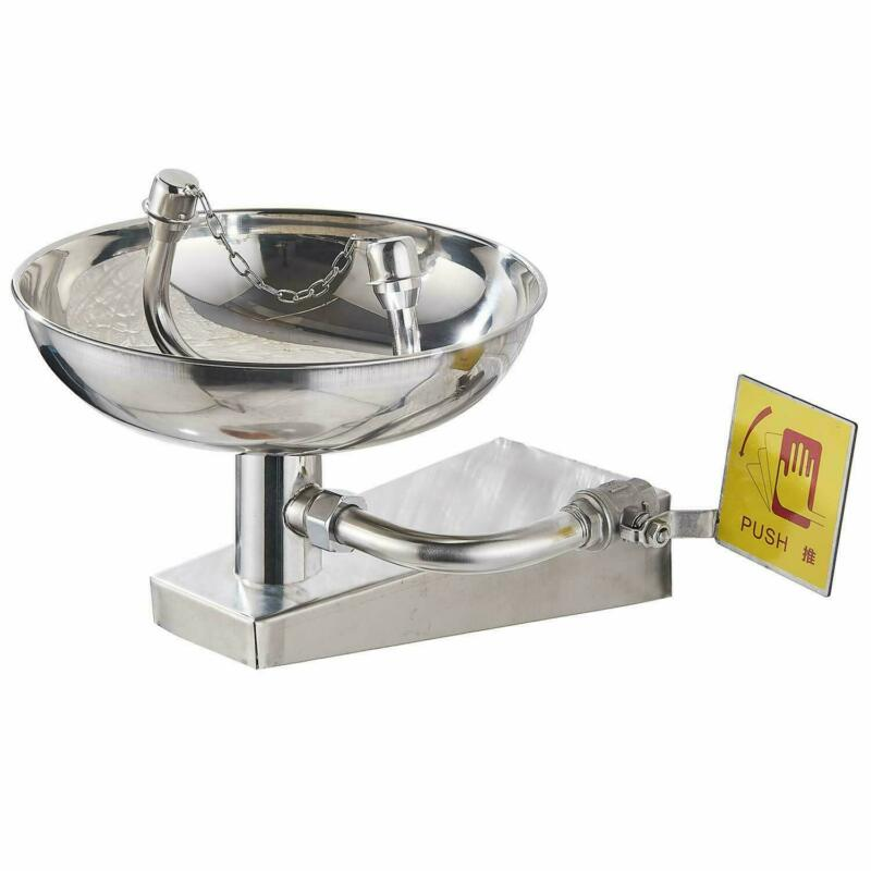 Stainless Steel Emergency Eyewash Station Eye Face Washer with Dual Heads