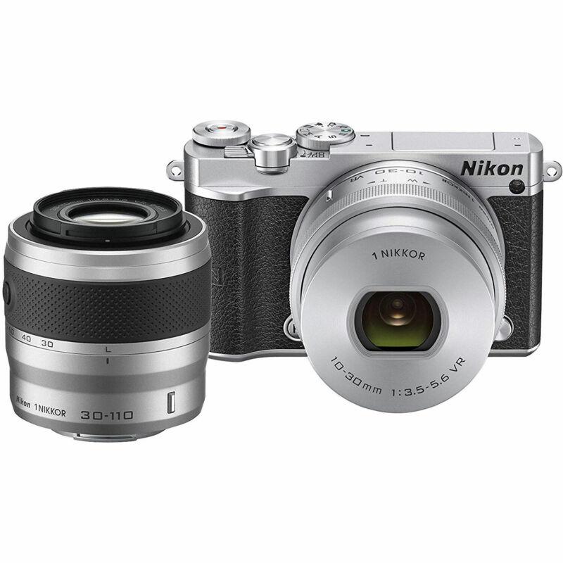 Nikon 1 J5 Digital Camera w/ NIKKOR 10-30mm Zoom Lens & 30-110mm Lens - Silver