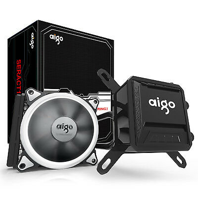 Aigo computer CPU Liquid Cooler Kit 120mm Fans Water Cooling Radiator System