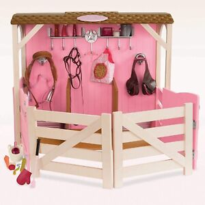 """Our Generation Saddle-Up Stables Horse Barn for 18"""" $70"""
