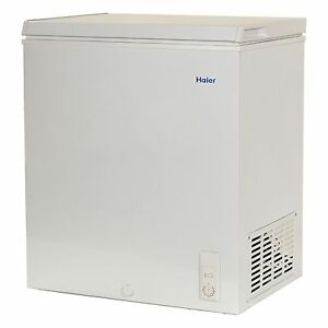 haier chest deep freezer 50 cu ft small size compact dorm apartment white new - Small Upright Freezer