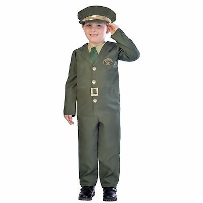 Boys WW2 Soldier Costumes Kids World War School Book week Fancy Dress Outfit