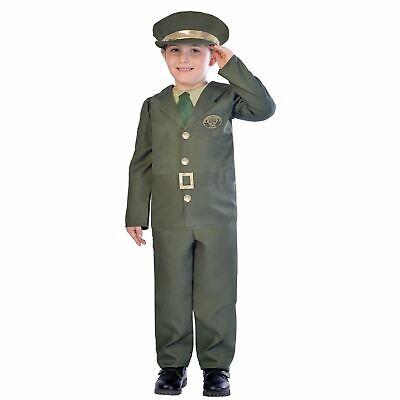 Boys WW2 Soldier Costumes Kids World War School Book week Fancy Dress Outfit - Ww2 Costumes Kids
