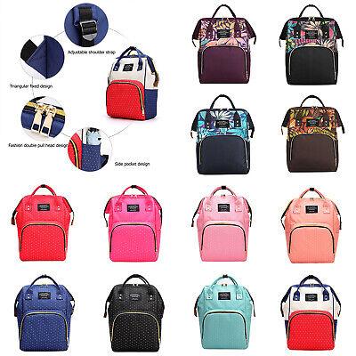 Mummy Maternity Nappy Diaper Bag Large Capacity Travel Backpack Handbags