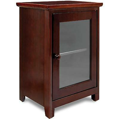 Nightstand Bedside Table Accent End Bedroom Storage Door Display Bedroom Nursery