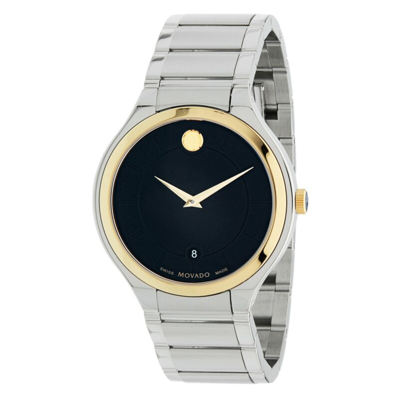 Movado 0607394 Men Quadro Black Quartz Watch