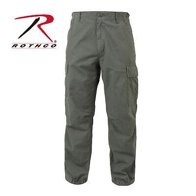 (Rothco Vintage Vietnam ERA Olive Drab Rip-Stop Zipper Fly Fatigue Pant)