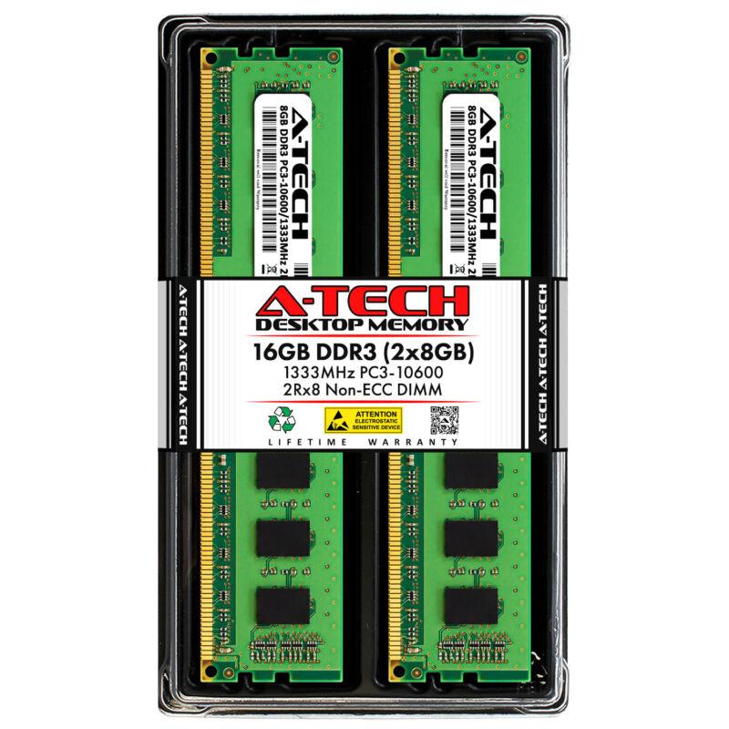 A-Tech 16GB 2x 8GB PC3-10600 Desktop DDR3 1333 MHz DIMM 240pin Memory RAM 16G 8G