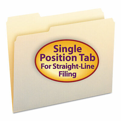Smead File Folders 13 Cut First Position One-ply Top Tab Letter Manila 100box