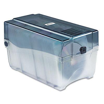 Innovera Cddvd Storage Case Holds 150 Discs Clearsmoke 39502