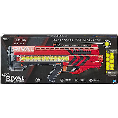 Nerf Rival Zeus MXV-1200 Blaster Toy Gun (Red) New