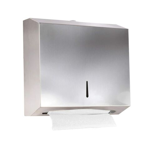 Wall Commercial Industrial Paper Towel Dispenser Stainless Steel w/ Lock Design