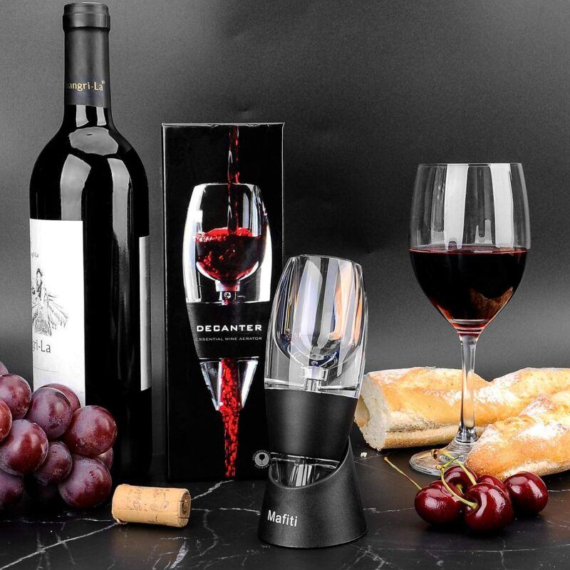 Wein Dekantierer Rotwein Aerator Wine Aerator Stand Ernüchternd Wein Belüfter DE
