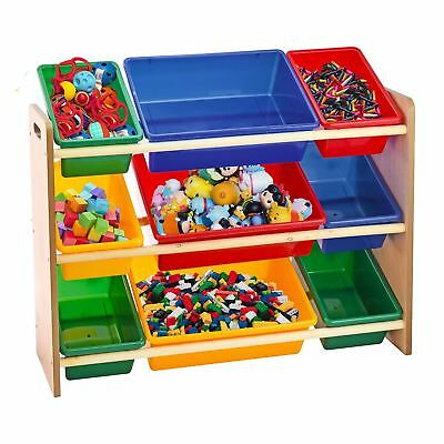 Toy Storage Unit Kids Children Play Organizer Boxes Shelf 3 Tiers Furniture