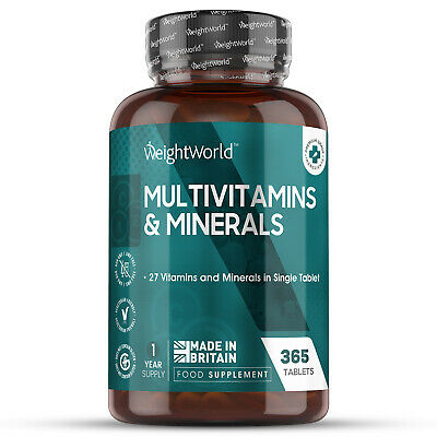 Multivitamins and Minerals 365 Vegetarian Tablets A-Z Multi-Vitamins in 1 Tablet