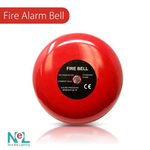 "Fire Alarm Bell, 12 Volt DC, 6"", Security Alarm Bell"