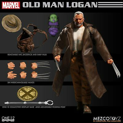 Mezco Toyz ONE:12 Old Man Logan Marvel Wolverine Comic Books Action Figure 76533
