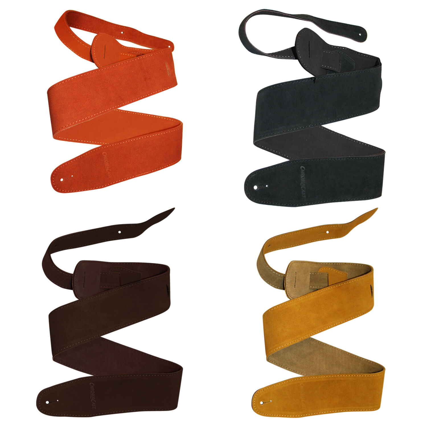 Guitar Strap Suede Leather for Acoustic, Electric, Bass Guit
