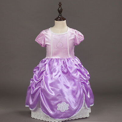 Sofia The First  Princess Girls Fancy Dresses Kids Costume Party Dress O09 - Girls Dresses Fancy