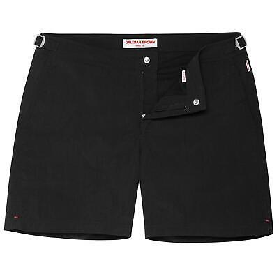 Orlebar Brown BULLDOG Black Mid-Length Swim Trunks Board Shorts 32
