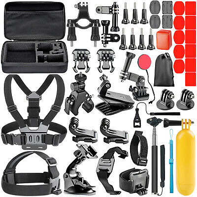 Neewer 50-In-1 Action Camera Accessory Kit for GoPro Hero 9 8 Max 7 6 5 4 Black