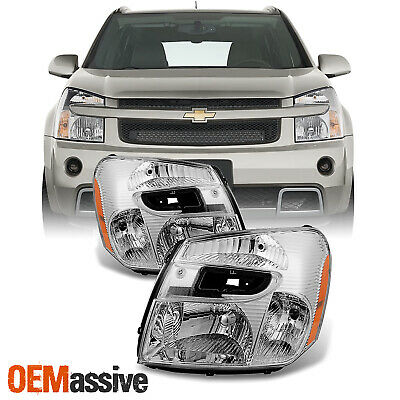 Fit 2005-2009 Chevy Equinox Headlights Lights Lamps Replacement Left + Right