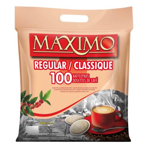 100 MAXIMO Classic Kaffeepads - einzelnt verpackt & aromaversiegelt