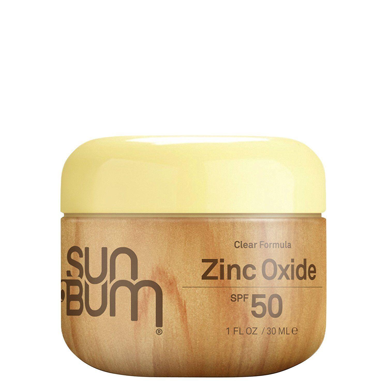 Sun Bum Zinc Oxide Sunscreen SPF 50, Water Resistant Clear F