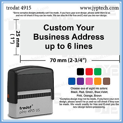 1  X 2 3 4   Extra Large Custom Your Business Stamp Text Up To 6 Lines