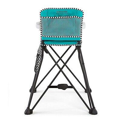 Summer Infant Pop 'n Dine Sweet Life Portable High Chair, Aqua Sugar NEW