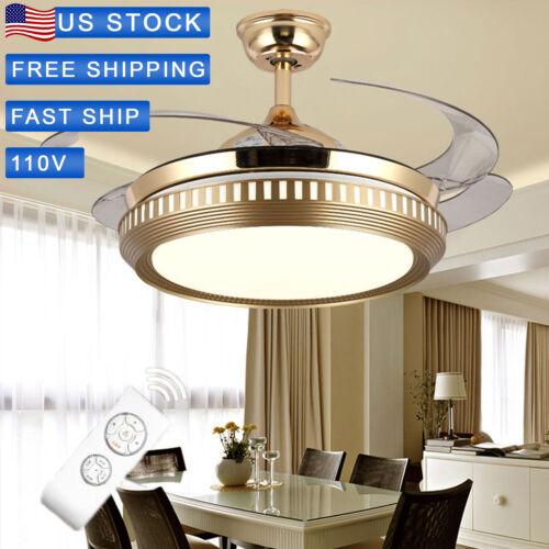 42 retractable ceiling fan light lamp remote
