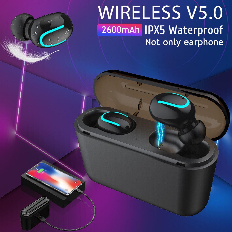 TWS Wireless 5.0 Headset Earbuds 5D Stereo In-Ear Headphones