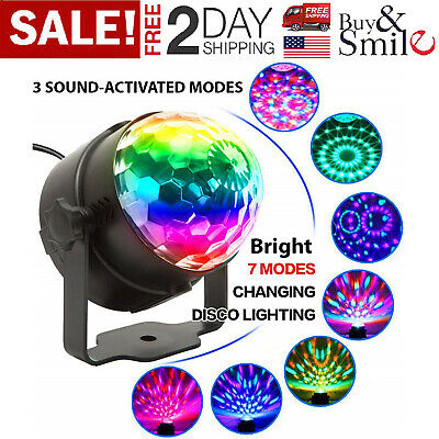 Rotating Disco Ball (RGB Strobe Lamp Disco Ball DJ KTV Rotating LED Stage Laser Lights Sound)