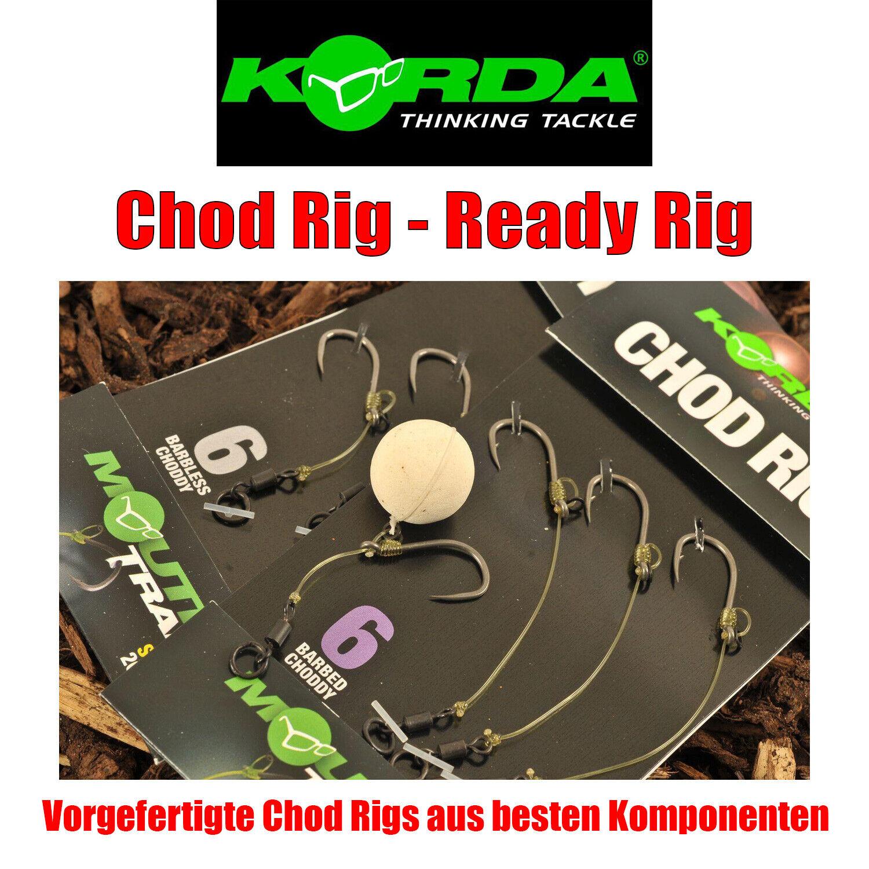 Korda Chod Rig - gebundene Karpfenvorfächer mit Haken Short/Long je 3 Stück