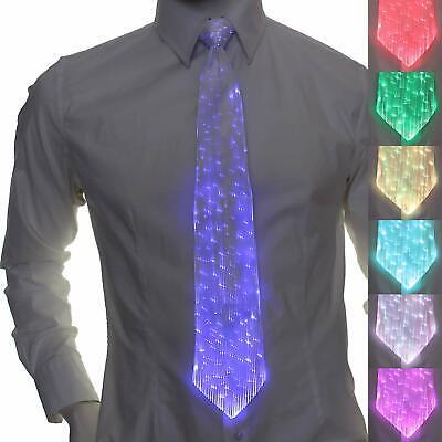 Akku LED Fiberoptic Krawatte leuchtend Festtags Fest Hochzeit Geschenk Festival