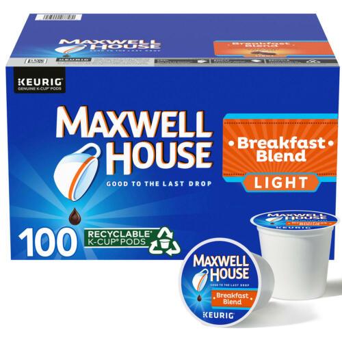 Maxwell House Light Roast Breakfast Blend Coffee K-Cup Pods (31 oz.,100 ct.)