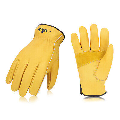 Vgo 131224pairs Palm Patched Cow Leather Work Glovesdriver Glovesca9590